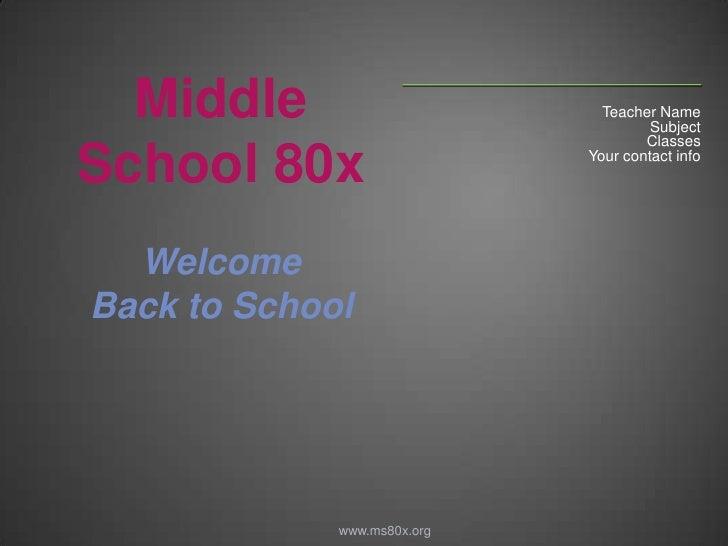Back 2 school powerpoint template for teachers teacher namebr subjectbr classesbr toneelgroepblik Image collections
