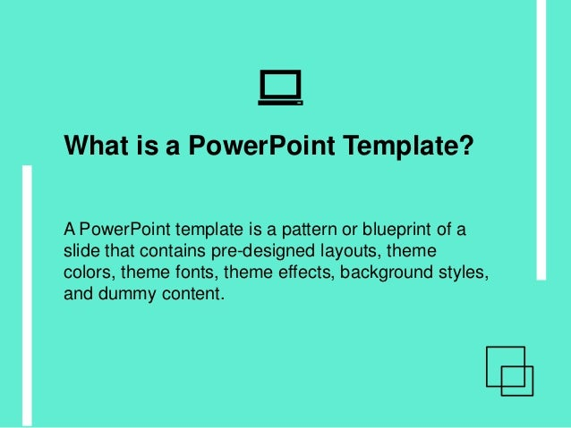 what is a powerpoint template