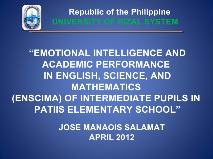 research proposal on emotional intelligence The relation between emotional intelligence and criminal behavior: a study  among  the project proposal was approved by the institutional ethical  committee.