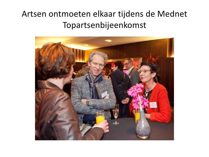 Artsen ontmoeten elkaar tijdens de Mednet Topartsenbijeenkomst <br />