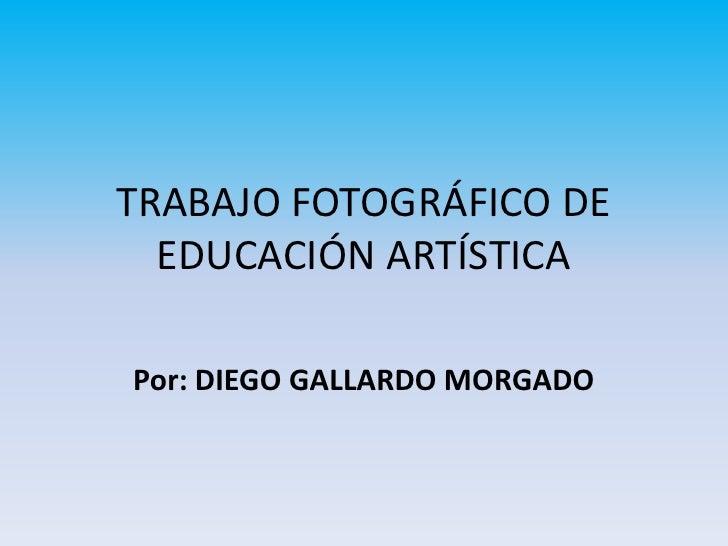 TRABAJO FOTOGRÁFICO DE EDUCACIÓN ARTÍSTICA<br />Por: DIEGO GALLARDO MORGADO<br />