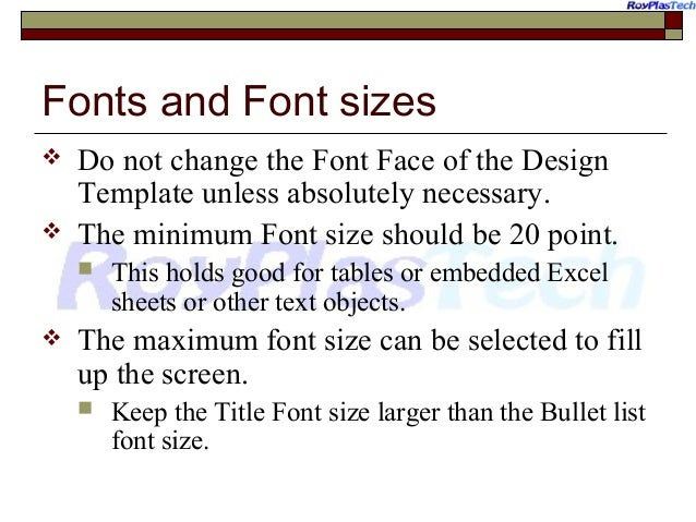 Powerpoint training ten golden rules for making effective presentat fonts and font sizes toneelgroepblik Gallery