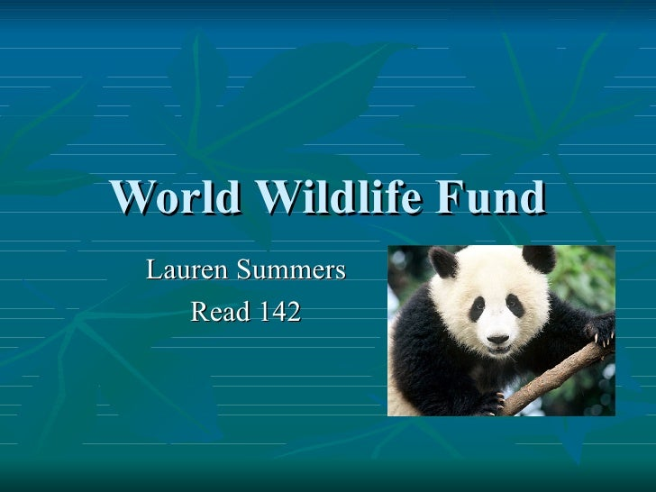 World Wildlife Fund Lauren Summers Read 142