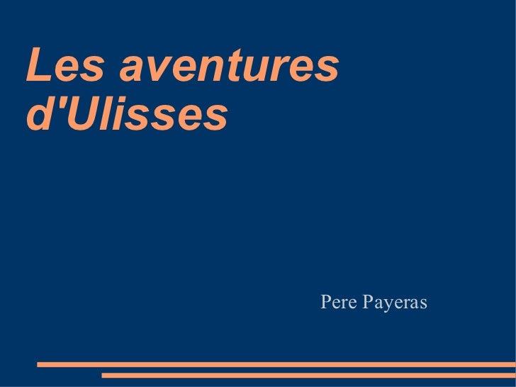 Pere Payeras Les aventures d'Ulisses