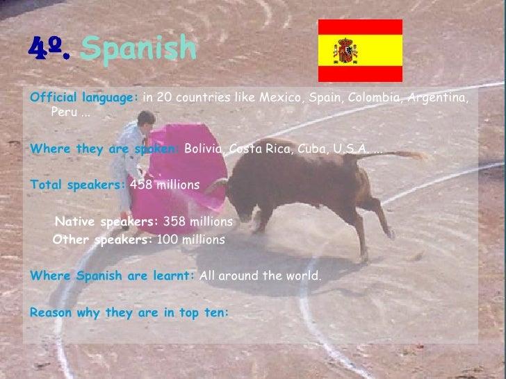 The Ten Most Spoken Languages In The World - Top ten spoken languages