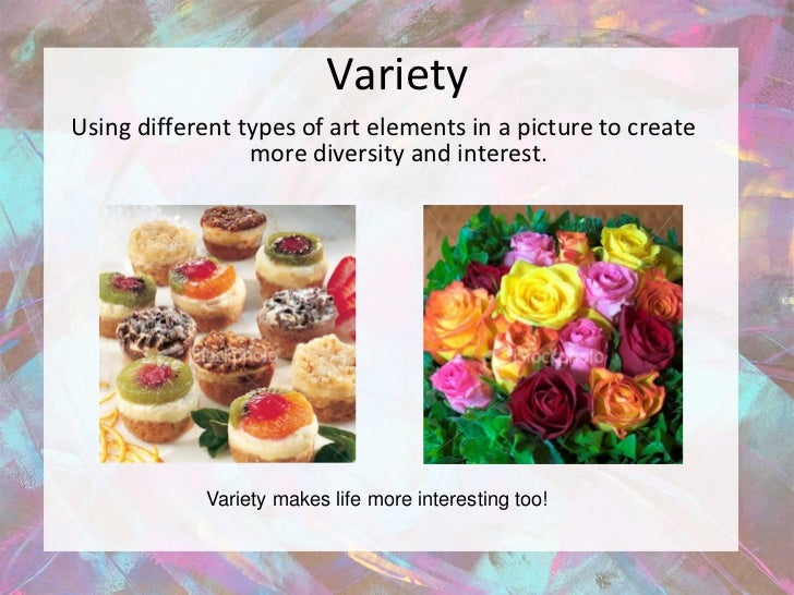 Variety Element Of Art : Powerpoint elements and principles