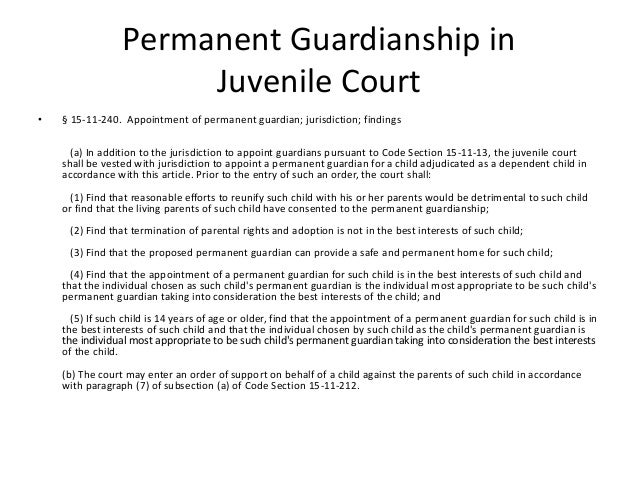 14 permanent guardianship