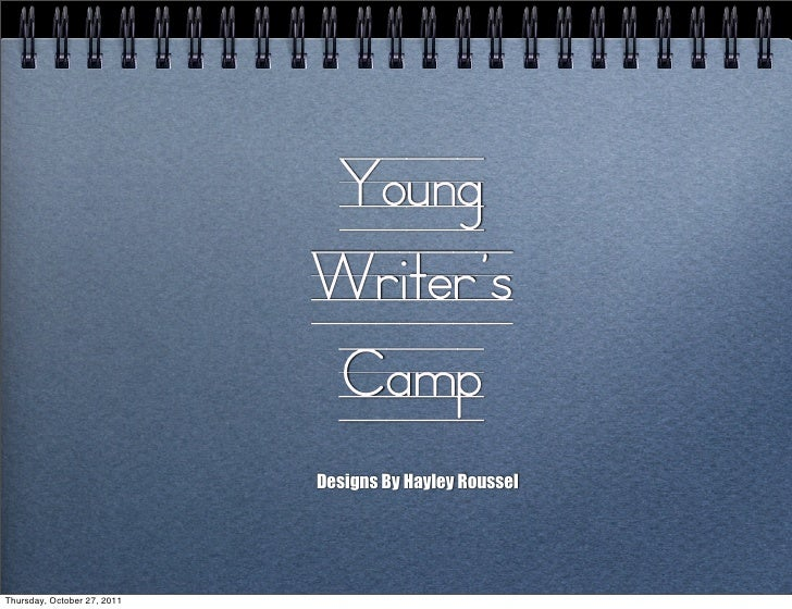 Young                             Writer's                             Camp                             Designs By Hayley ...