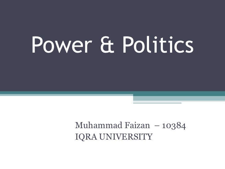 an examination of power and politics in organizations essay The concept of organizational power and politics is ideally essential in all organizations the organizational behavior defines its schemes of powers the political activity that operator within an organization is due to the diversity of advantages and resource distributions to many however, this.