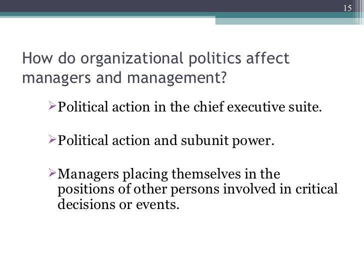 effect power and politics organization