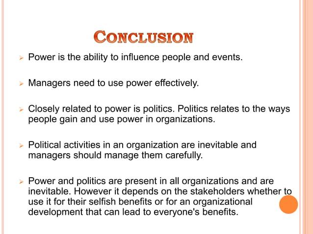 Power and Politics in Organization