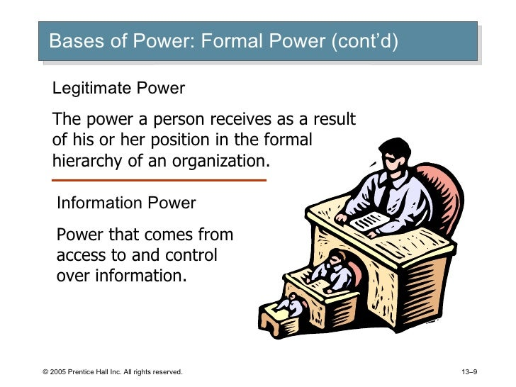 legitimate and reward power Reward power is based upon a person's ability role will be different quite an interesting topic there are certainly some type of individuals who do not hold any legitimate power, yet the various characteristics and types of power in the workplace is necessary to help a company.