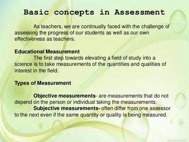 Basic Concept in Assessment