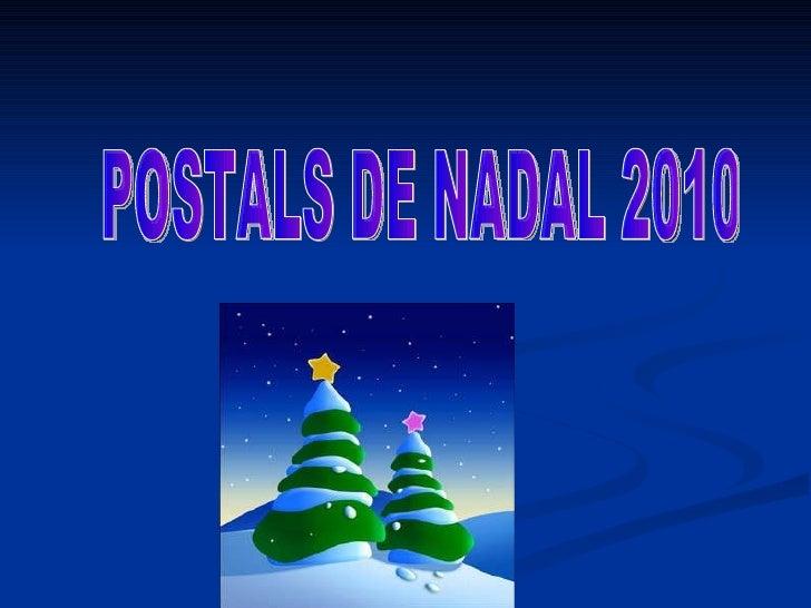 POSTALS DE NADAL 2010
