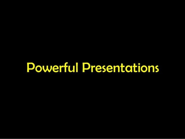 Power presentations and points