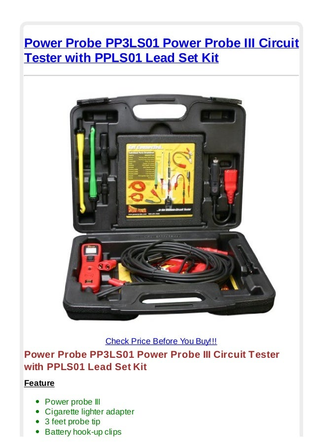 Power Probe 3 Lead Set Kit
