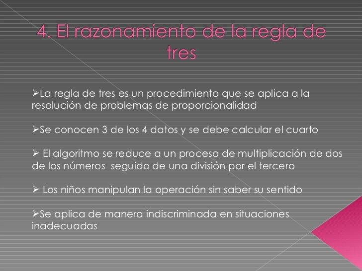 <ul><li>La regla de tres es un procedimiento que se aplica a la resolución de problemas de proporcionalidad </li></ul><ul>...