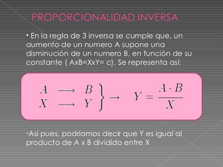 <ul><li>En la regla de 3 inversa se cumple que, un aumento de un numero A supone una disminución de un numero B, en funció...