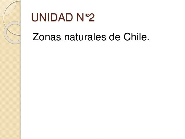 UNIDAD N°2 Zonas naturales de Chile.