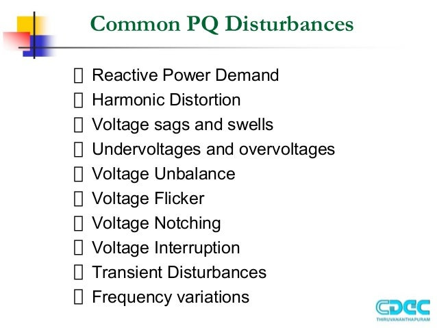 power quality issues and improvemrnt Summary: on the basis of the current trends for solving complex technical problems, a new concept of power quality improvement is proposed it consists in creating a distributed system for supply conditions improvement in a given islanding power system, in eg geographical terms (with determined points of delivery), or as.