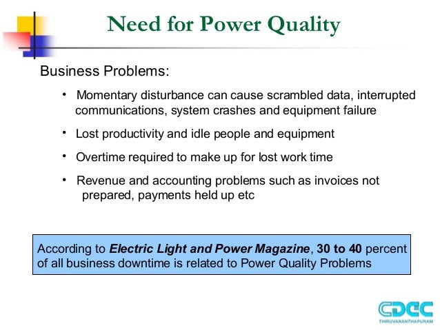 Power quality issues and improvemrnt