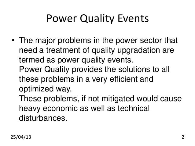 thesis on power quality control Ment of renewable energy systems disturbances, active power control and frequency regulation quality and security of.