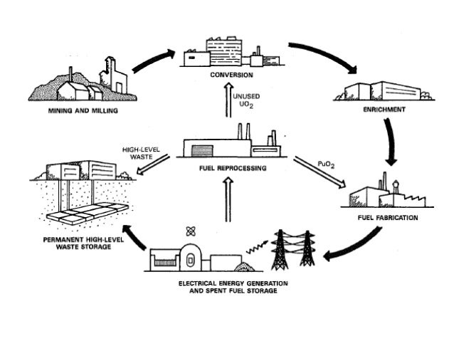 Types of Nuclear Reactor and Process Flow Diagram of System
