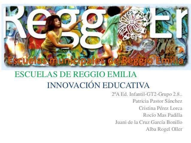 ESCUELAS DE REGGIO EMILIAINNOVACIÓN EDUCATIVA2ºA Ed. Infantil-GT2-Grupo 2.8..Patricia Pastor SánchezCristina Pérez LorcaRo...