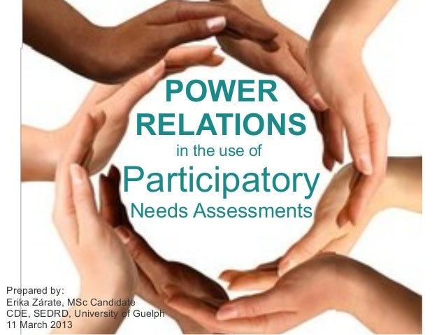 POWER                         RELATIONS                                   in the use of                       Participator...