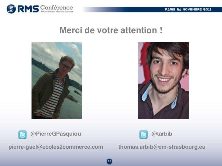 Recrutement Médias Sociaux (Pierre-Gaël Pasquiou)