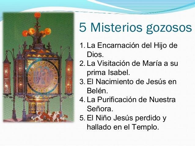 Resultado de imagen para santo rosario misterios gozosos
