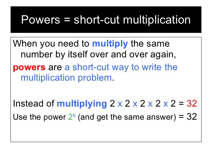 Powers and Exponents Slide 3