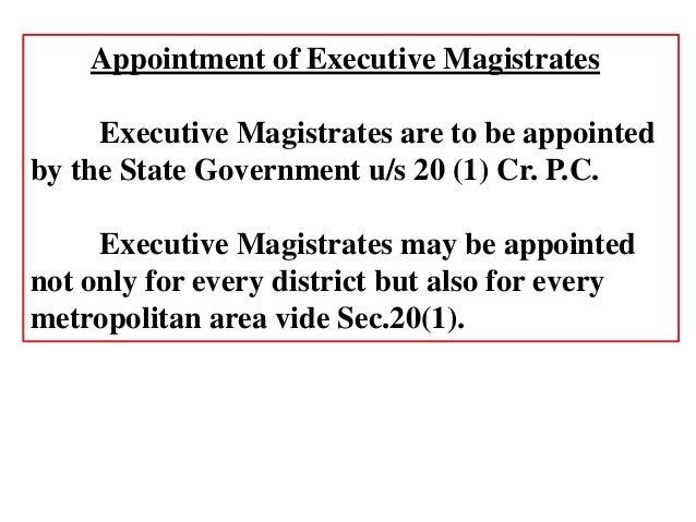executive magistrate