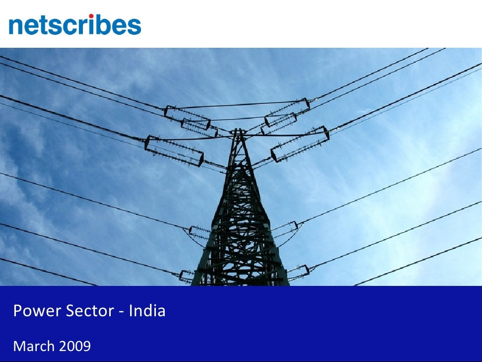 Power Sector - India March 2009