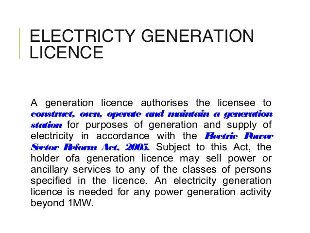 electric power sector reform in nigeria business essay Company, the nigeria electricity supply company (nesco) [3] the  the  electric power sector reform bill, signed into law on march 11, 2005, enabled  private.
