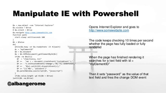 Automating boring tasks with Powershell