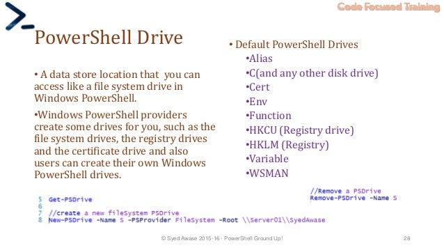 Powershell training material