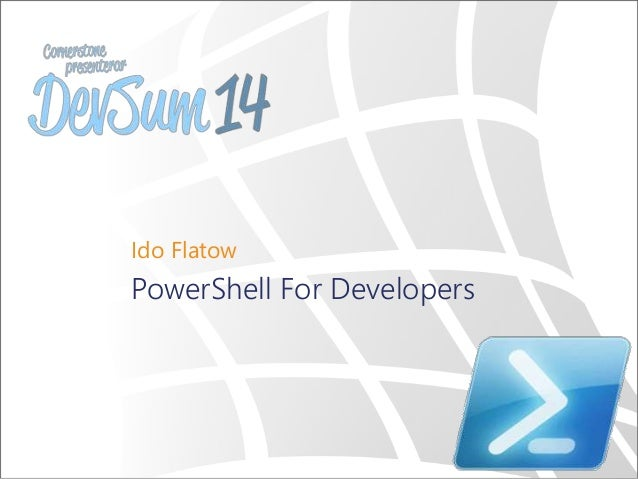Ido Flatow PowerShell For Developers