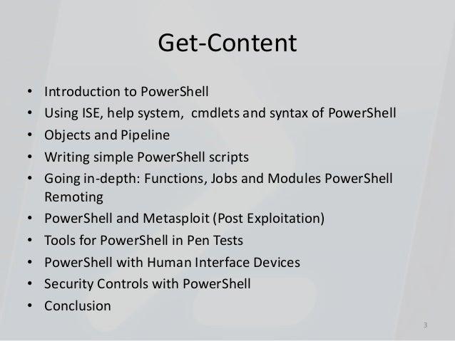 PowerShell for Penetration Testers Slide 3