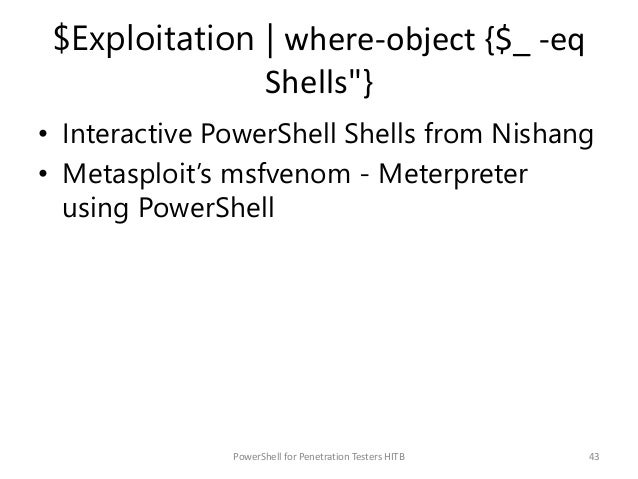 Workshop: PowerShell for Penetration Testers