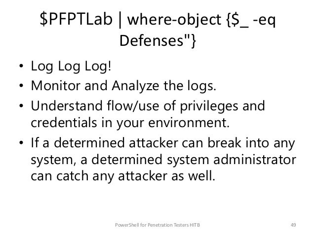"""$PFPTLab   where-object {$_ -eq Credits""""} Credits/FF to PowerShell hackers (in no particular order) @obscuresec, @mattifes..."""