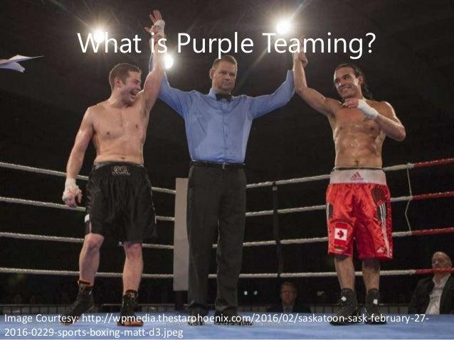 What is Purple Teaming? Image Courtesy: http://wpmedia.thestarphoenix.com/2016/02/saskatoon-sask-february-27- 2016-0229-sp...