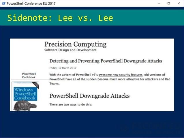 Sidenote: Lee vs. Lee
