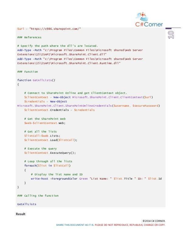 Basic powershell scripts