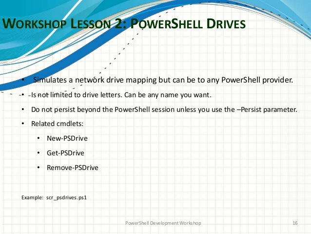 PowerShell Workshop Series: Session 2