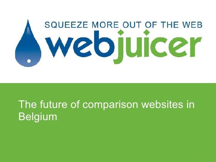 The future of comparison websites in Belgium