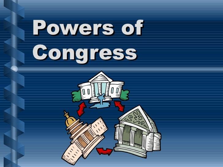 Powers ofCongress
