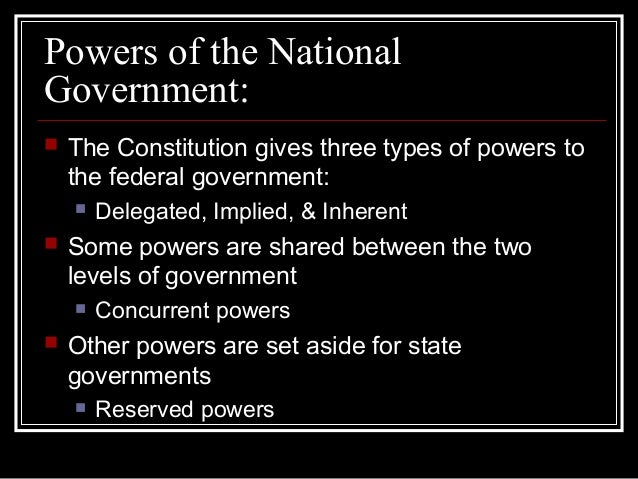 Powers of Government Slide 3