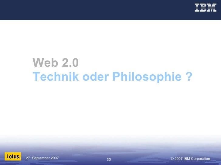 Web 2.0 Technik oder Philosophie ?