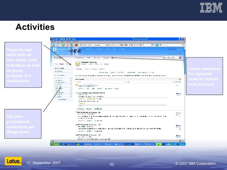Activities   Organize and work with all your tasks, both individual as well as group projects, in a single place Create te...